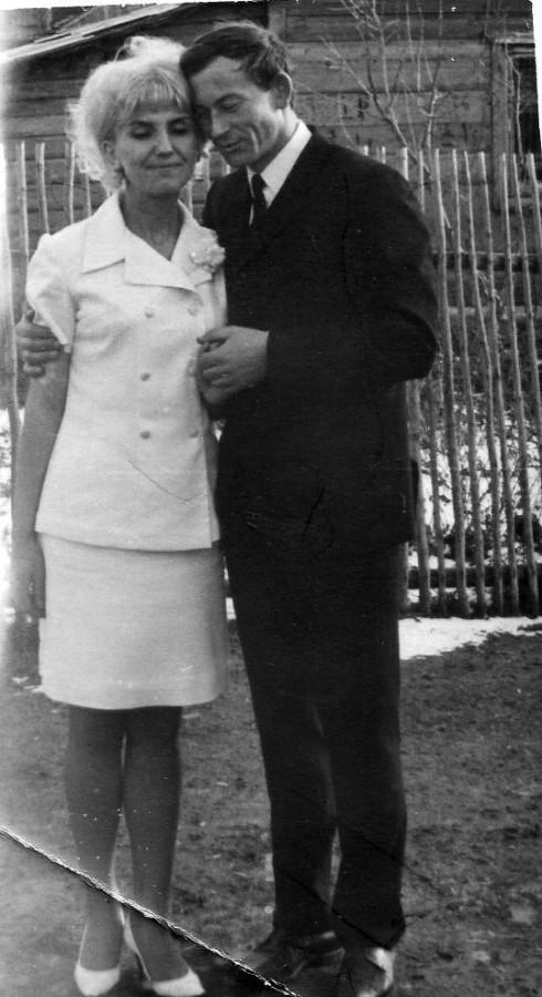Гранкины Алексей и Вера, 1970. свадьба, село Колыванское.