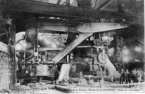 small_St Chamond pilon de 100 tonnes forming gun carte 1917 105003