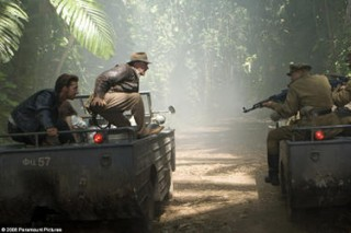 Shia LaBeouf and Harrison Ford in Indiana Jones and the Kingdom of the Crystal Skull.