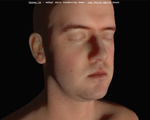 three.js - webgl skin rendering demo