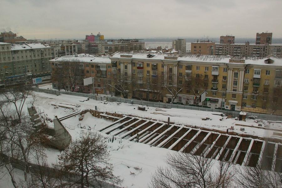 Снег в метро