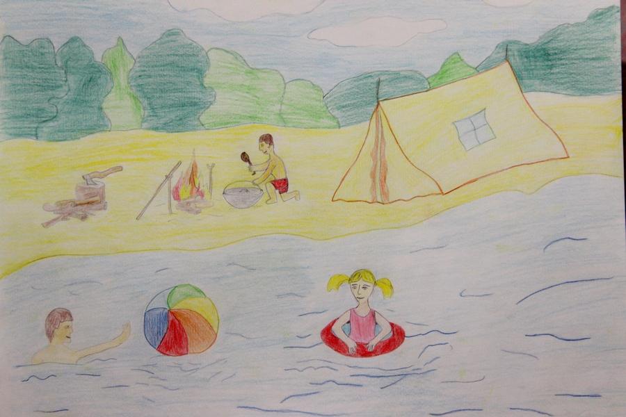 Картинка как я провел лето на море