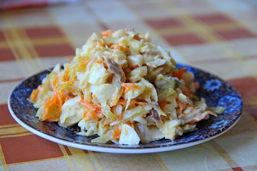 Салат из рыбы минтай рецепт