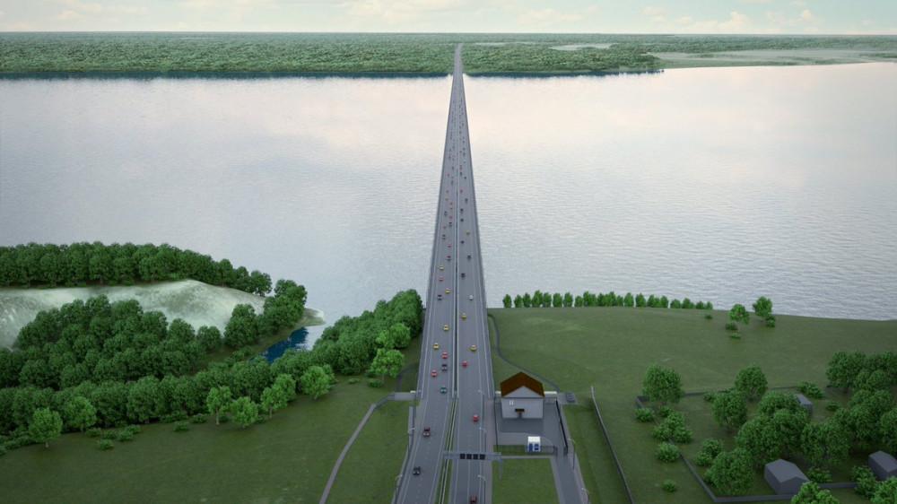 Дан старт строительству моста через Волгу в Тольятти (с.Климовка)