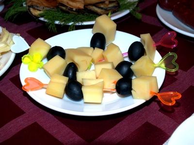 сыр+оливки