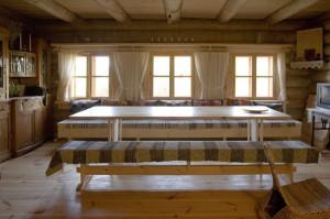 изба-дизайн столовой