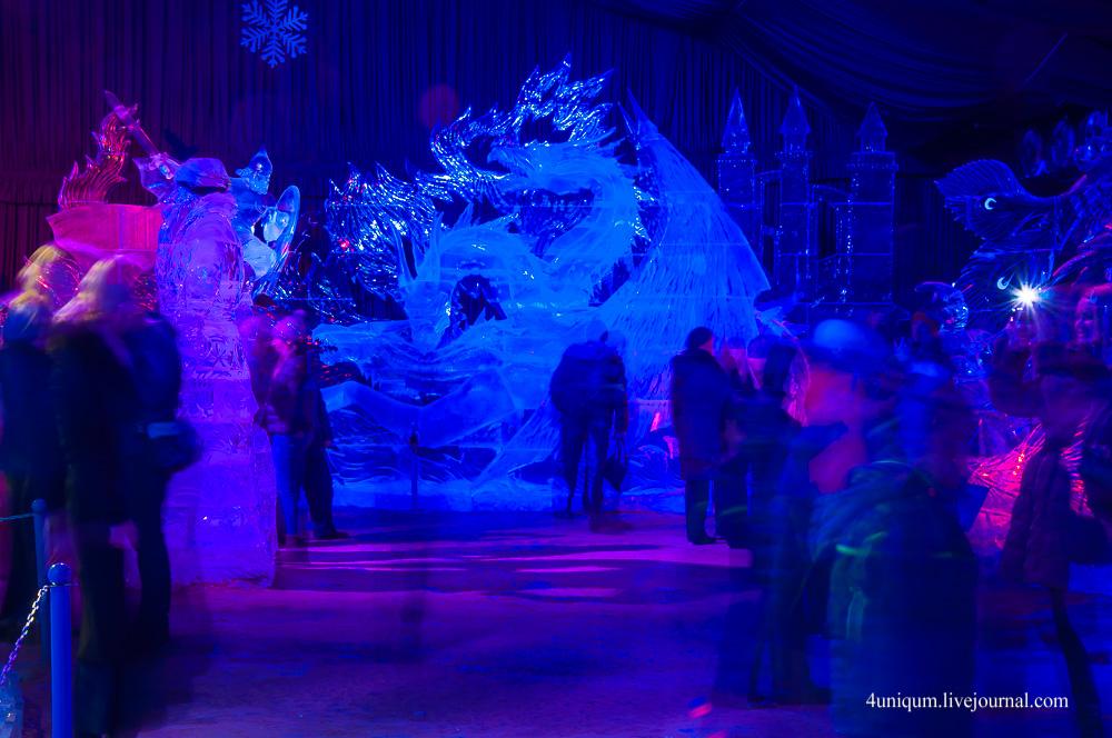 Фестиваль ледовых скульптур в петропавловской крепости 2017
