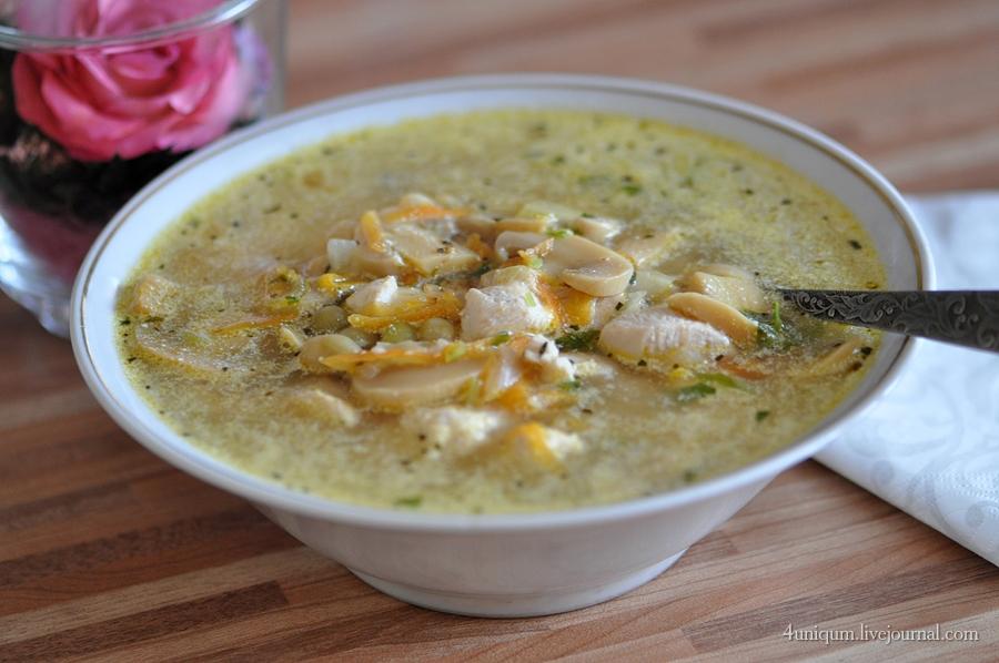 Супы с консервированными шампиньонами с фото