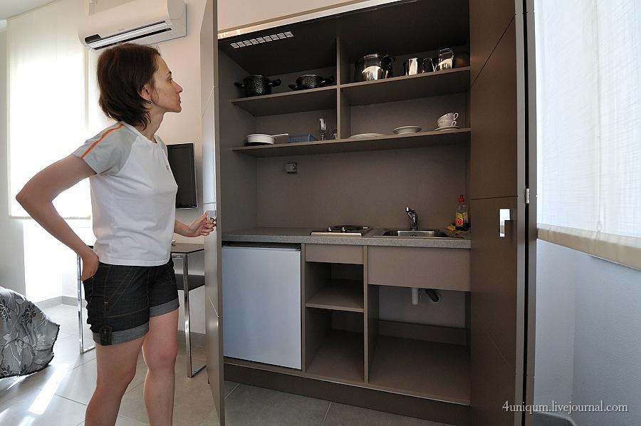 Скрытая кухня фото