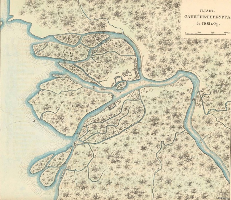 Шведский отряд сжег три деревни на Каменном острове. 15 июня 1705