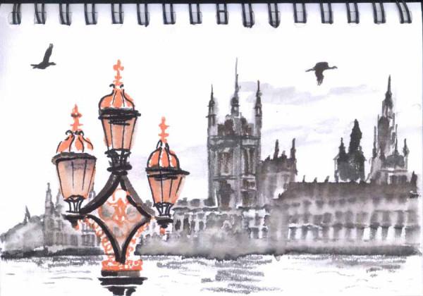 гуси в Лондоне
