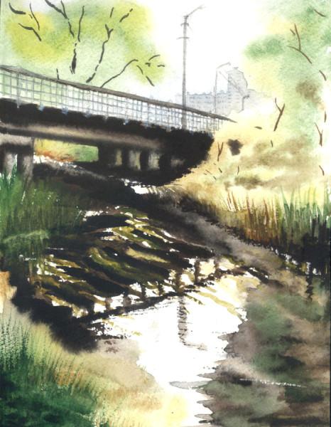 мост через Осколец в Гумнах