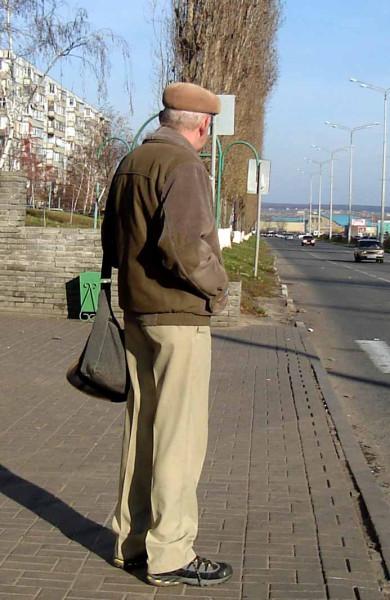 одетый дедушка