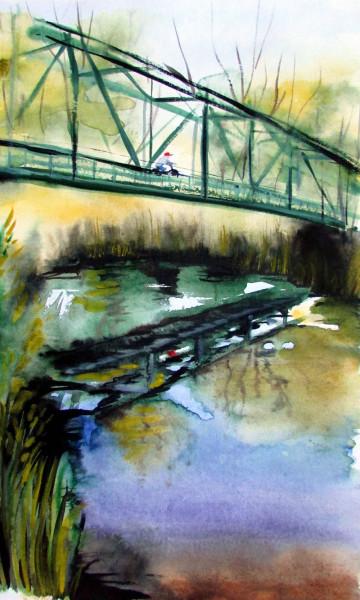 зеленый мост через Осколец 1