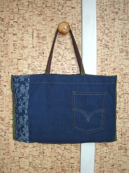 сумка джинсовая 2 сторона