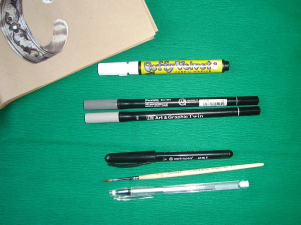 маркеры и гелевые линер 001