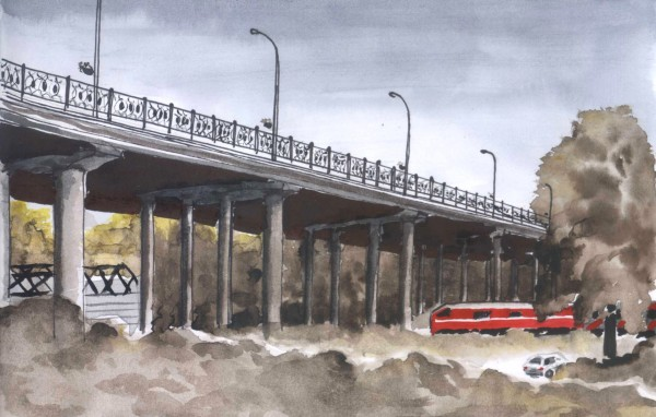 большой мост поезд