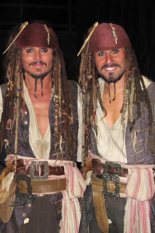 Johnny Depp and Christopher Leps