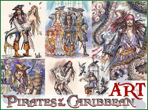 Картинки «Пираты Карибского моря» от Капитана Буль-Буля.