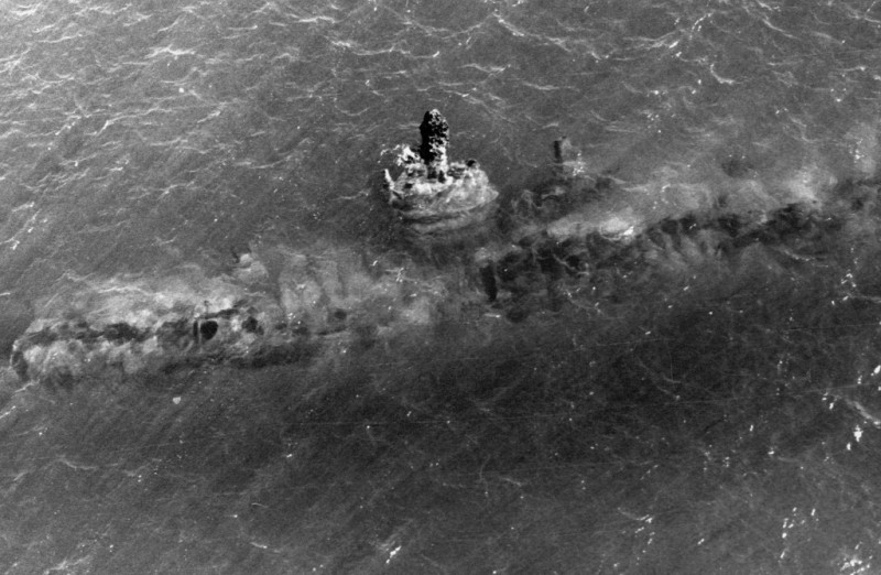 U-48 on the northern part of the Goodwin Sands.