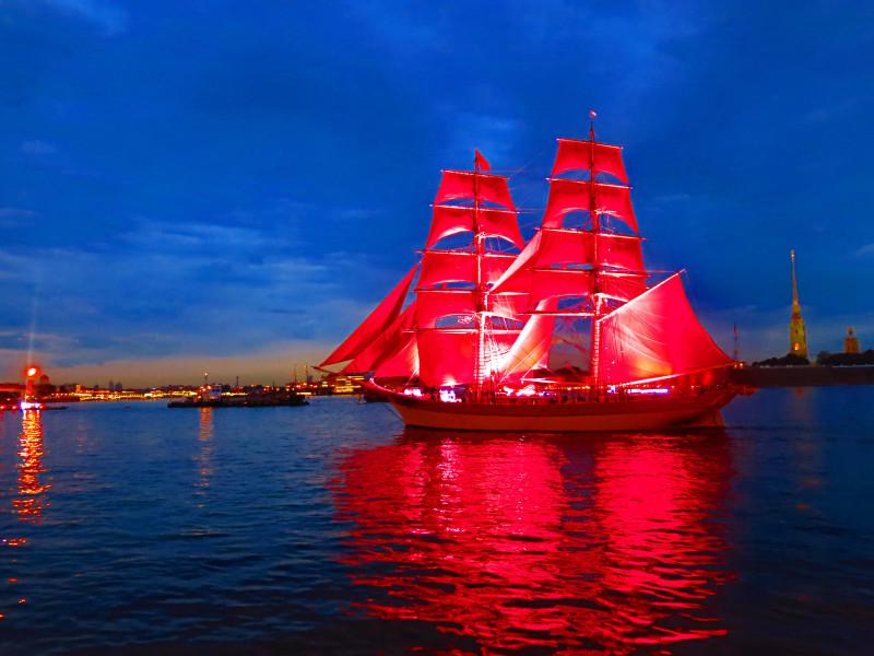 Красивые фото кораблей с алыми парусами
