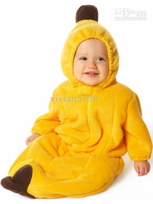 Baby pea and banana Sleeping Bag sleep bags FLEECE Infant Children's rompers Newborn Baby sleeping bag