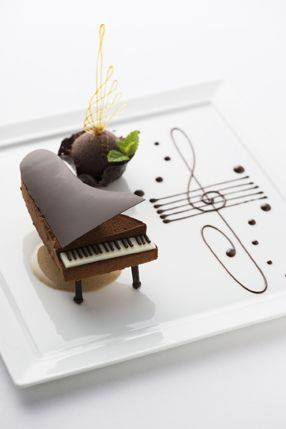 Chocolate Dessert Piano at the Palace Hotel Tokyo Japan