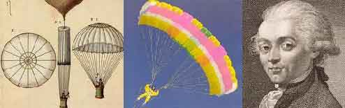 Картинки по запросу 1785 - День рождения парашюта – Франсуа Бланшар продемонстрировал сконструированный им парашют.