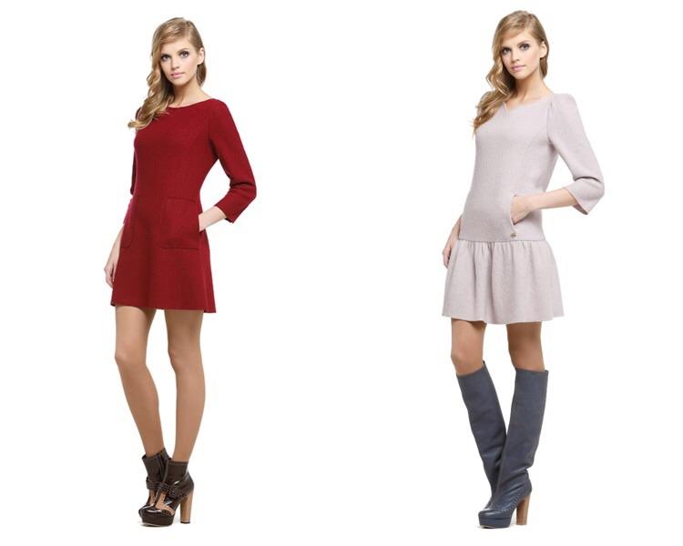 Платья с пальтовой ткани