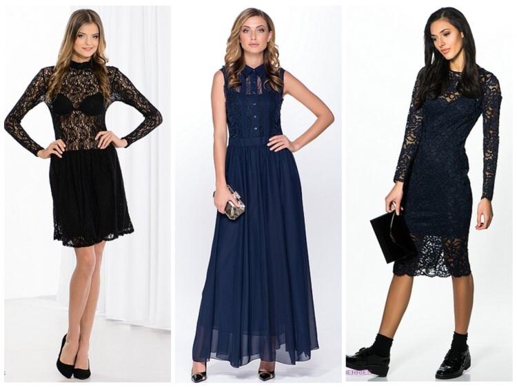 Черное кружевное платье pinko