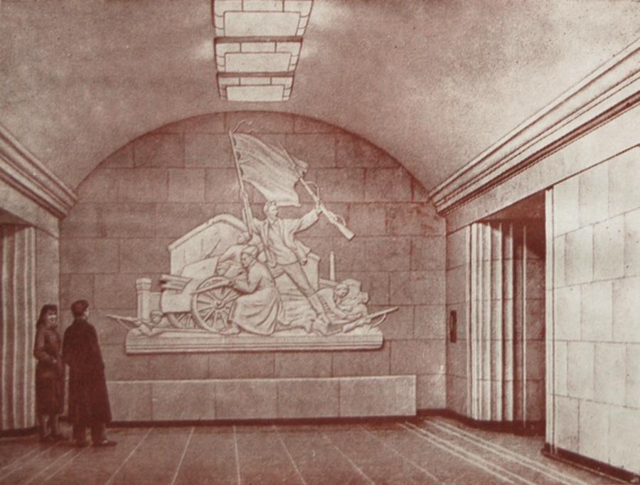 Подземный вестибюль станции «Арсенальная»