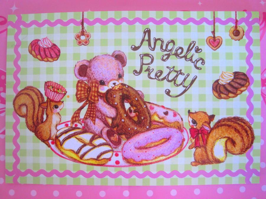 Angelic Pretty  Little Bear's Cafe Postkarte
