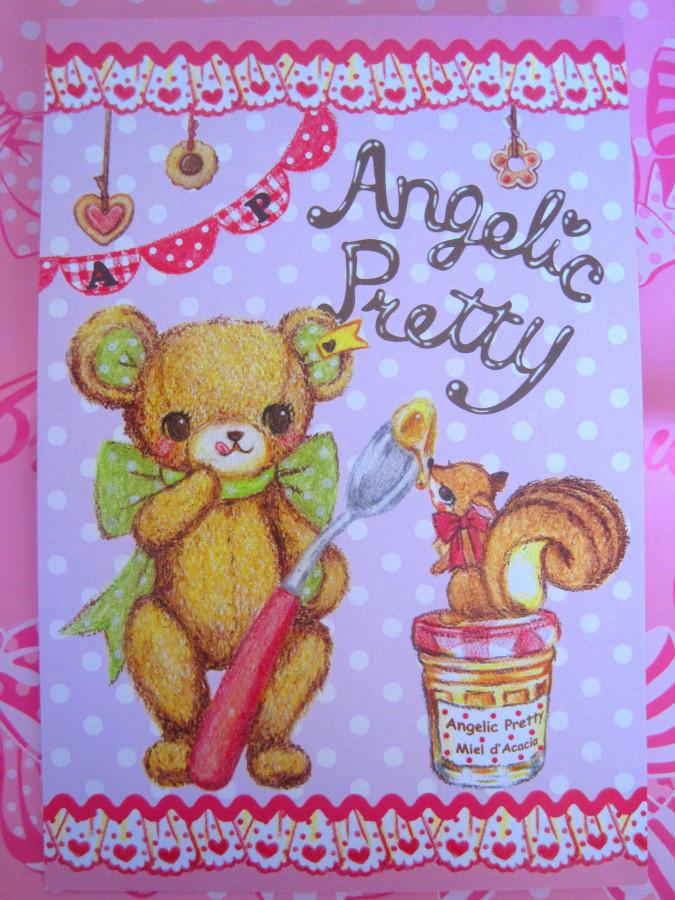 Angelic Pretty Little Bears Cafe Postkarte