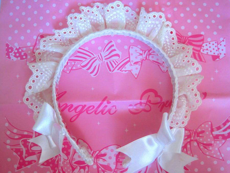 Angelic Pretty Maid Style Headband (white)