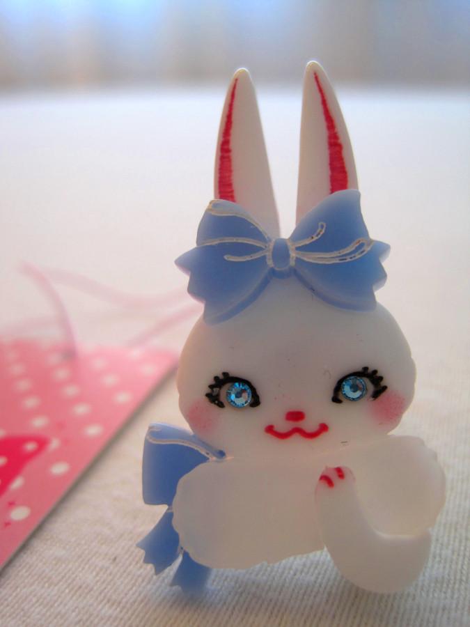 Angelic Pretty Marshmallow bunny Ring (Sax)