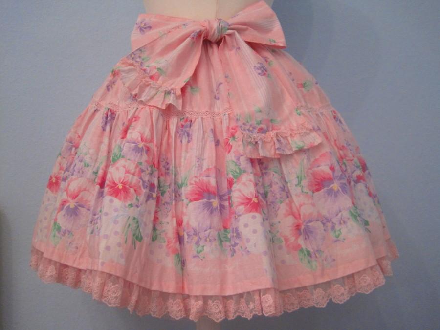 Angelic Pretty Sugar Pansy Skirt (pink)
