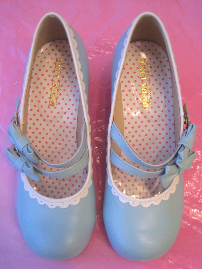 Bodyline shoes (sax-white)