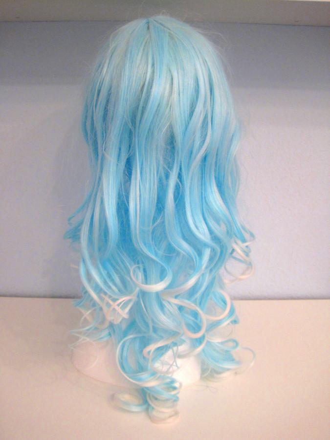 Wig blue & white 6