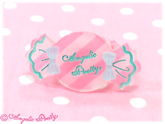 Angelic Pretty Candy Stripe Ring (Pink) 17,00 €