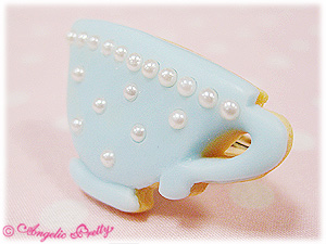 Angelic Pretty Tea Cup Cookie Ring (sax)
