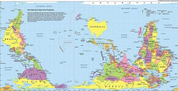 австралийская карта мира