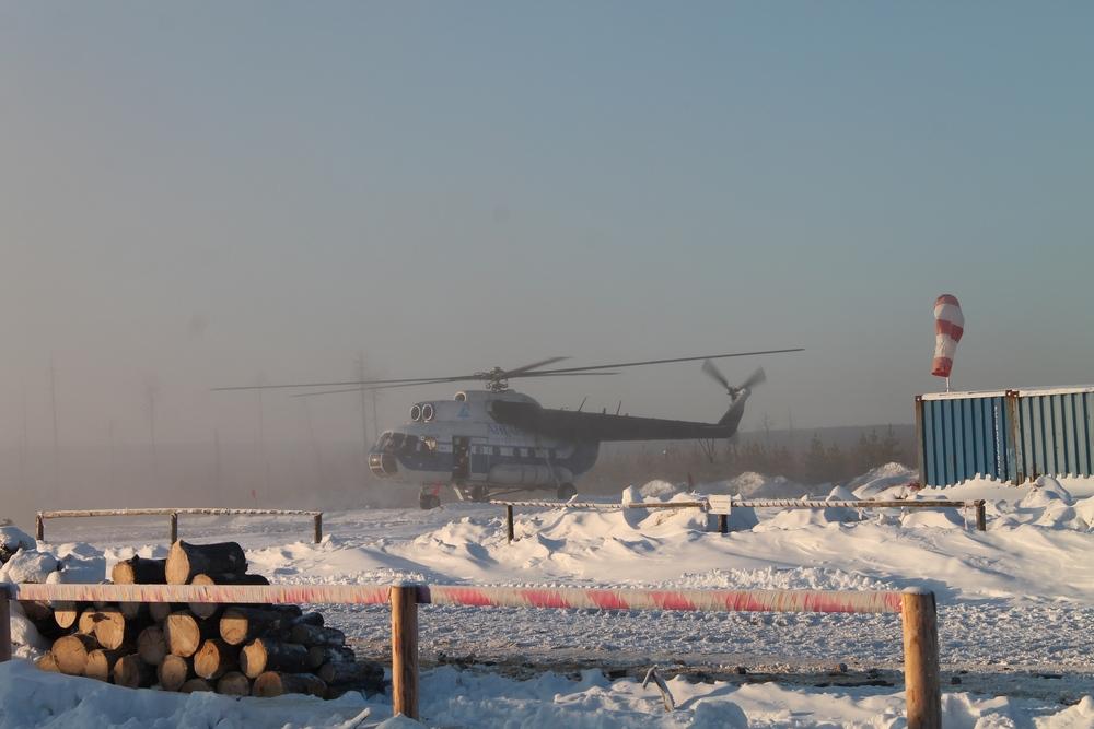 2014 12 04 прилетел вертолёт с комиссией по приёмке партии