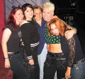 Marina, me, Susan, Phox, Megan
