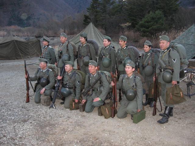 gruppe, im kampflinie, vorwaerts