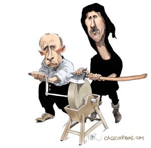 Владимир Путин глазами западных и сирийских карикатуристов