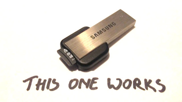 Samsung µSD card reader