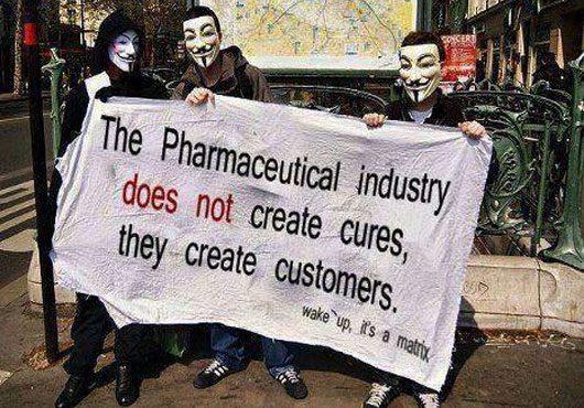 фармацептическая индустрия не лечит, а создает потребителей