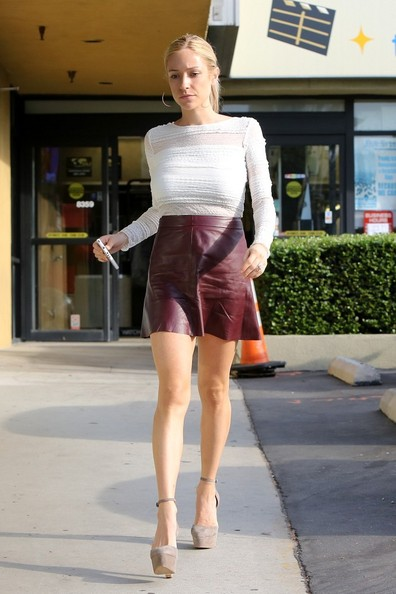 Celebrity Trend Leather Skirts And Dresses Oh No They