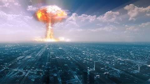 Решается проблема с перенаселением, наземный взрыв.