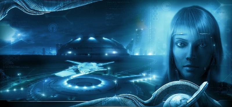 """Цивилизация в непредсказуемой форме, модифицированные люди, умные машины... (Иллюстрация книги """"Звезды холодные игрушки"""")"""